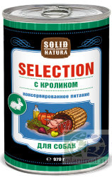 Solid Natura Selection Кролик  влажный корм для собак, 970 гр.