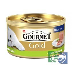 Консервы для кошек Purina Gourmet Gold, кролик, банка, 85 гр.