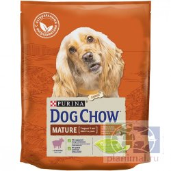 Сухой корм Purina Dog Chow Mature Adult для собак старше 5 лет, ягнёнок, пакет, 800 г