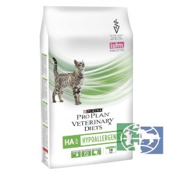 Сухой корм Purina Pro Plan Veterinary Diets HA для кошек с аллергическими реакциями, пакет, 1,3 кг