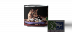 Консервы Landor SENIOR CATS CALF AND HERRING   телятина с сельдью для пожилых кошек, 200 гр.