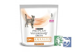 Сухой корм Purina Pro Plan Veterinary Diets OM для кошек с ожирением, пакет, 350 гр.