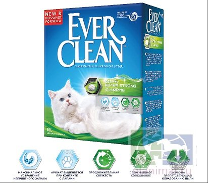 Ever Clean Extra Strong Clumping Scented - комкующийся наполнитель  с ароматизатором 10 л.